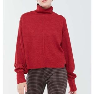 Urban Outfitters Red Slouchy Turtleneck sweater